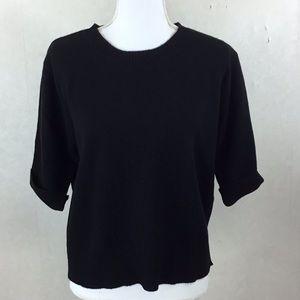 Apostrophe Cashmere Short Sleeve Sweater